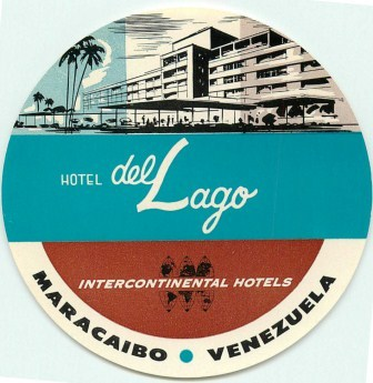 De Lago Inter-Continental Hotel Luggage Label, Neal Prince