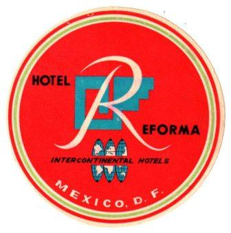 Reform Inter-Continental Hotel Luggage Label, Neal Prince